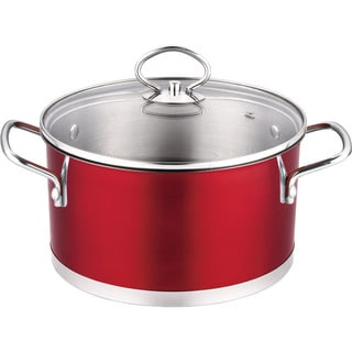 Prime Cook Stainless Steel 3-quart Soup Pot with Glass Lid
