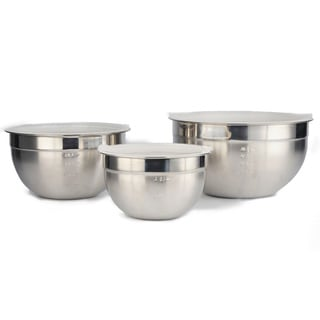 Prime Cook Stainless Steel 6-piece Mixing Bowl Set