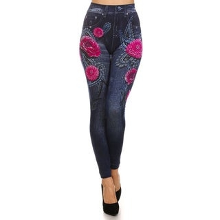 HoneyComfy Pink Paisley Fashion Fleece Sublimation Jeggings