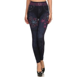HoneyComfy Fleece Electric Daisy Sublimation Jeggings