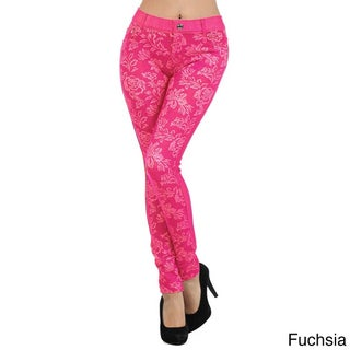 HoneyComfy Women's Floral-pattern Jeggings (More options available)