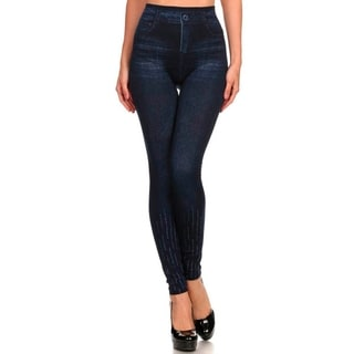 HoneyComfy Ladies' Sequined Sublimation Jeggings