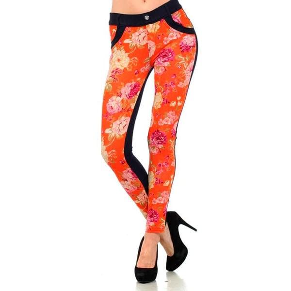 Shop HoneyComfy Ladies' Floral Print and Rhinestone Pocket Oracle