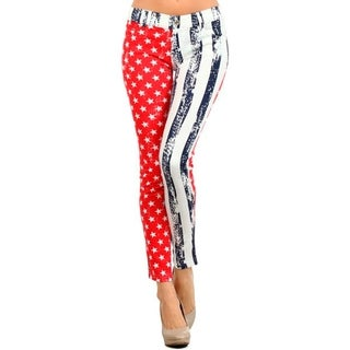 HoneyComfy Women's American Flag Jeggings