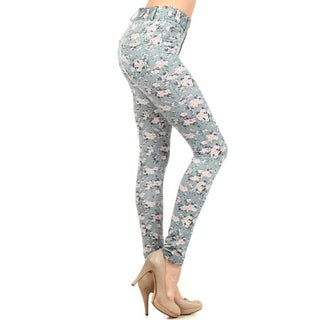 HoneyComfy Ladies' Cotton and Spandex Ditsy-print Jeggings (2 options available)