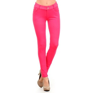 HoneyComfy Women's Polyester/Spandex Fashion Jeggings