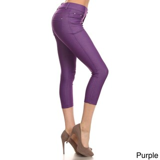 HoneyComfy Solid Color Capri Fashion Jeggings (More options available)