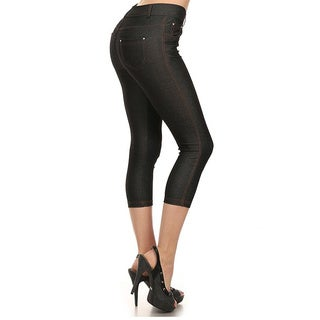 HoneyComfy Solid Color Capri Fashion Jeggings