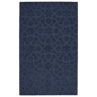 Trends Navy Geo Wool Rug (8'0 x 11'0)