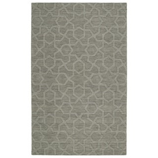 Trends Grey Geo Wool Rug - 2' x 3'
