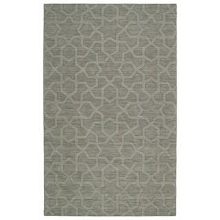 Trends Grey Geo Wool Rug (8'0 x 11'0)