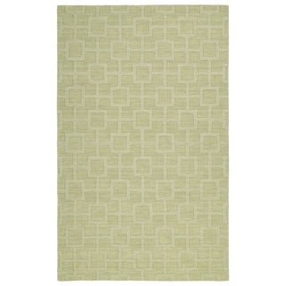 Trends Celery Geo Wool Rug (5'0 x 8'0) - 5' x 8'