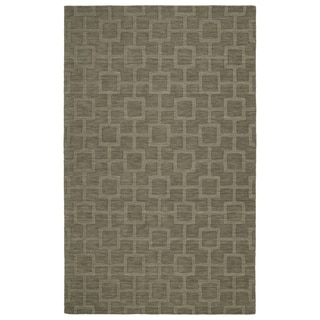 Trends Taupe Geo Wool Rug (3'6 x 5'6)