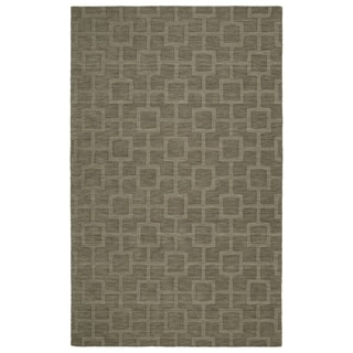 Trends Taupe Geo Wool Rug (2'0 x 3'0) - 2' x 3'