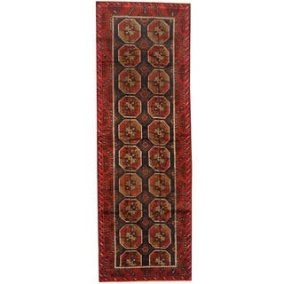 Herat Oriental Afghan Hand Knotted 1960s Semi Antique Tribal Balouchi Wool Runner 4