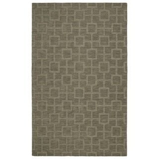 Trends Taupe Geo Wool Rug (8'0 x 11'0)