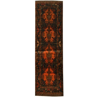 Herat Oriental Afghan Hand-knotted 1960s Semi-antique Tribal Balouchi Wool Runner (2'10 x 9'6)