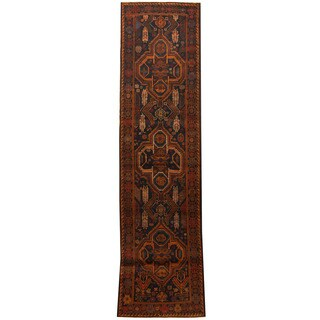 Herat Oriental Afghan Hand-knotted 1960s Semi-antique Tribal Balouchi Wool Runner (2'8 x 9'10)