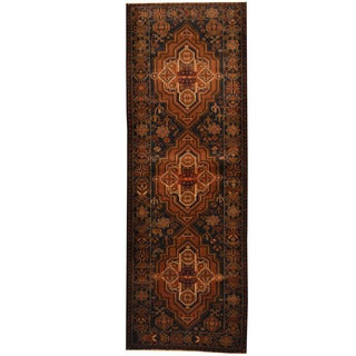 Herat Oriental Afghan Hand-knotted 1960s Semi-antique Tribal Balouchi Wool Runner (3'3 x 9'5)