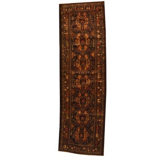 Herat Oriental Afghan Hand-knotted 1960s Semi-antique Tribal Balouchi Wool Runner (3'1 x 10'3)