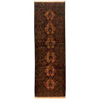 Herat Oriental Afghan Hand-knotted 1960s Semi-antique Tribal Balouchi Wool Runner (3'5 x 10'4)