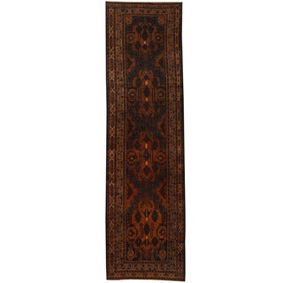 Herat Oriental Afghan Hand-knotted 1960s Semi-antique Tribal Balouchi Wool Runner (2'7 x 9'3)
