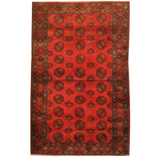 Herat Oriental Afghan Hand-knotted 1960s Semi-antique Tribal Balouchi Wool Rug (2'10 x 4'5)