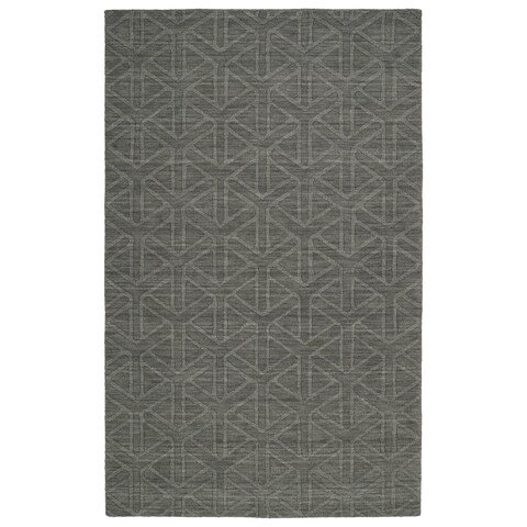 Trends Charcoal Prism Wool Rug - 2' x 3'