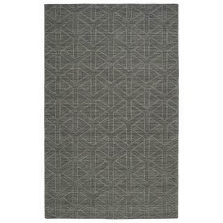 """Trends Charcoal Prism Wool Rug - 3'6"""" x 5'6"""""""