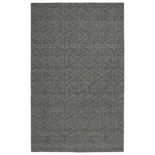 Trends Charcoal Wool Prism Rug (8'0 x 11'0)