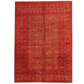 Herat Oriental Afghan Hand-knotted 1960s Semi-antique Tribal Balouchi Wool Rug (6'9 x 9'7)