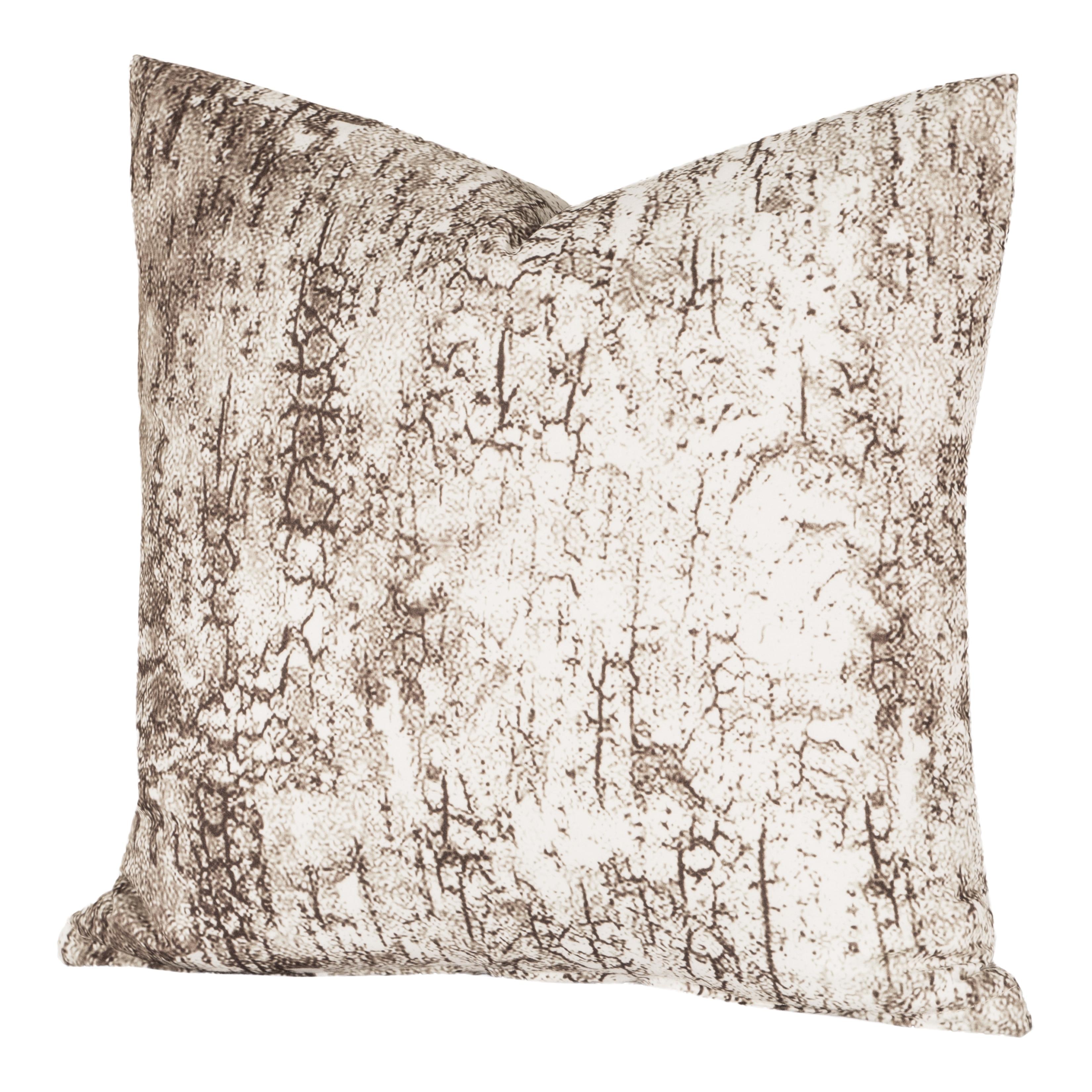 Carbon Loft Mack Birch Bark White And Brown Throw Pillow Overstock 20528648