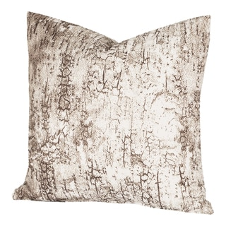 Carbon Loft Mack Birch Bark White and Brown Throw Pillow (26 x 26)