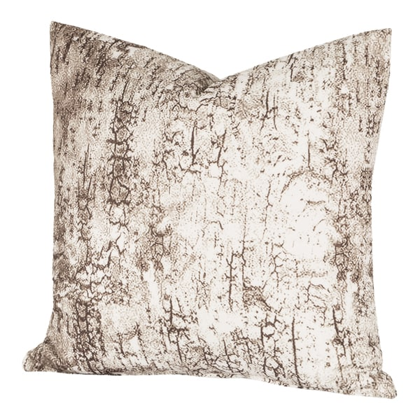 Carbon Loft Mack Birch Bark White and Brown Throw Pillow