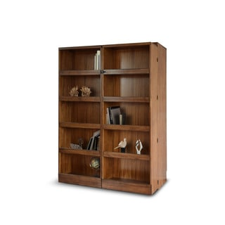 Chestnut Finish Bookcase Queen-size Murphy Bed
