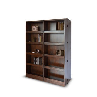 Bookcase Cappuccino Finish Queen-size Murphy Bed