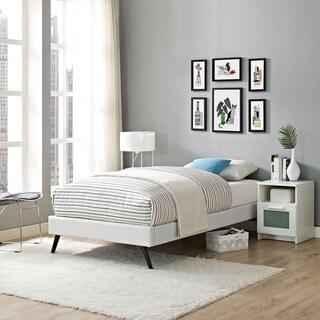 Helen Vinyl Upholstered Wood Twin-size Platform Bed
