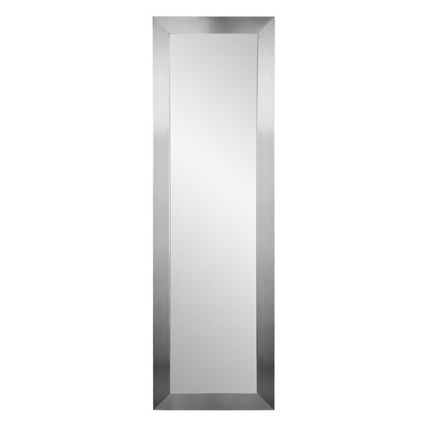 BrandtWorks Multi Size Modern Slim Silver Full length Floor Mirror