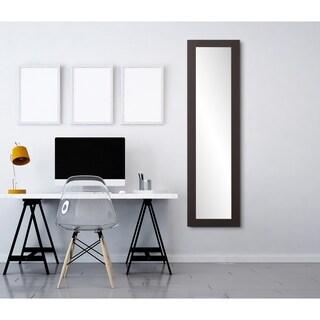 Multi Size BrandtWorks Full Length Slim Modern Black Floor Mirror