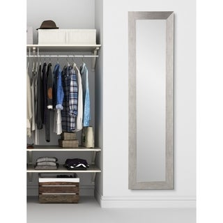 BrandtWorks Slim Full-length Silver-grain Floor Mirror - Silver