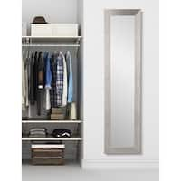 BrandtWorks Slim Full-length Silver-grain Floor Mirror - Silver