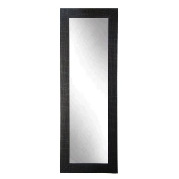 Full body floor mirror with black frame with silver for Black framed floor mirror