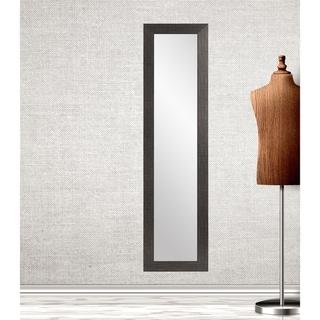 Multi Size BrandtWorks Black and Silver Accent Slim Floor Mirror - Black/Silver