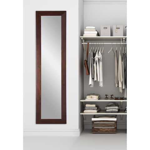 Multi Size Brandtworks Dark Walnut Full Length Slim Floor Mirror Brown