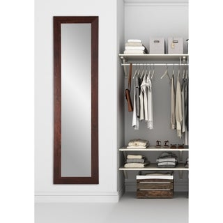Multi Size BrandtWorks Dark Walnut Full-length Slim Floor Mirror - Brown