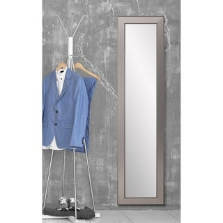 Multi Size BrandtWorks Mod Euro Silver Floor Mirror - aged silver