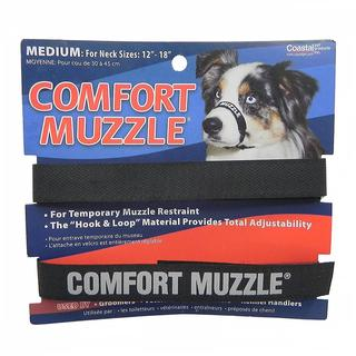 Coastal Pet Products Black Hook and Loop Comfort Muzzle