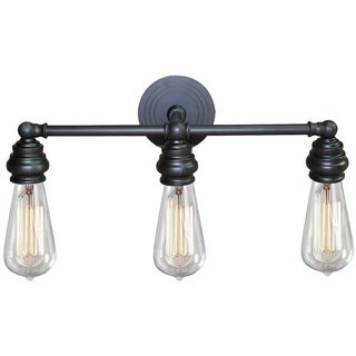 Y-Decor 'Tiffany' 3-light Metal Vanity Fixture with Exposed Bulb Style - N/A
