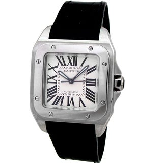 Pre-owned Cartier Women's Santos 100 Midsize Watch
