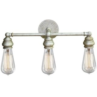 Y-Decor Tiffany Goldtone Steel 3-light Vanity Light Fixture